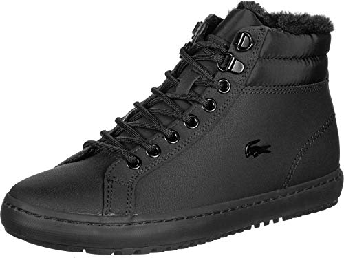 Lacoste Straightset Thermo Sneaker Damen schwarz, 5.5 UK - 39 EU - 7.5 US