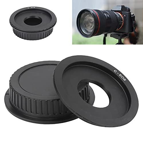 Adaptador de Lente con Montura C, cómodo para el Adaptador de Lente C-EOS Posición precisa del Orificio Resistente y para cámara Canon EF/EF-S