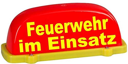 Dachaufsetzer Feuerwehr rot