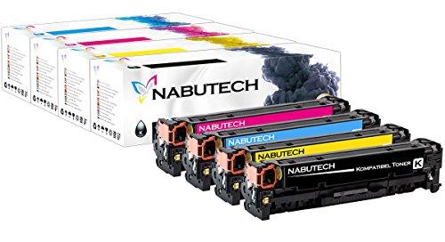 Nabutech toner als vervanging voor HP CF410X CF411X CF412X CF413X compatibel met HP Color Laserjet Pro M452nw, M452dn toner, Pro MFP M377dw, M477fnw toner, MFP M477fdn