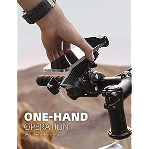 "Lamicall Soporte Movil Bicicleta, Soporte Motocicleta - Rotación 360° Soporte Manillar para iPhone 12 Pro Max, 12 Mini, 11 Pro, XS Max, X, XR, 8, 7, 6S, Samsung S10 S9 S8, Huawei, 4.7-6.8"" Smartphones"