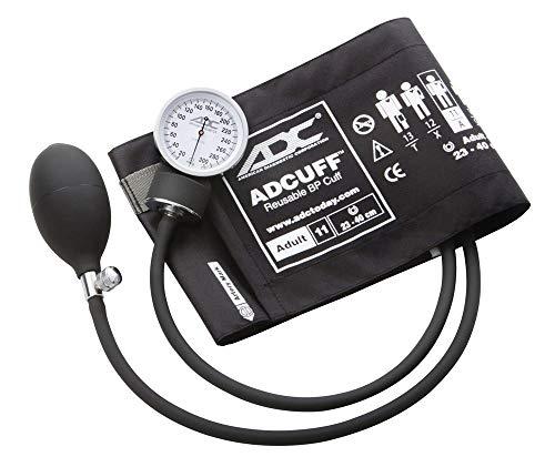 ADC 760-11ABK Prosphyg 760 - Esfigmomanómetro aneroide de bolsillo con puño de presión arterial de nailon, color negro