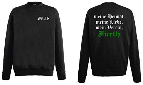 world-of-shirt Herren Sweatshirt Fürth Ultras Meine Heimat