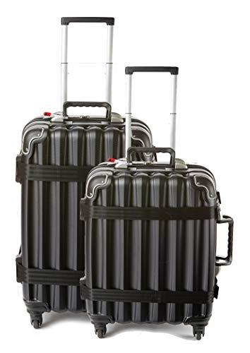 wine travel bag for luggages Bundle - 2 items: VinGardeValise Wine Travel Suitcase 12 & 8-bottle - Grande 05 and Petite 03, Black