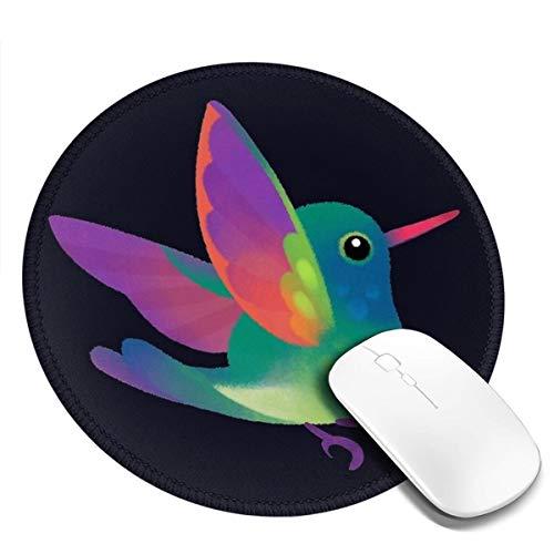 7.9x7.9in ronde muismat bureau kleur verloop vogel met vleugels spreiden toetsenbord mat grote muismat voor computer desktop laptop