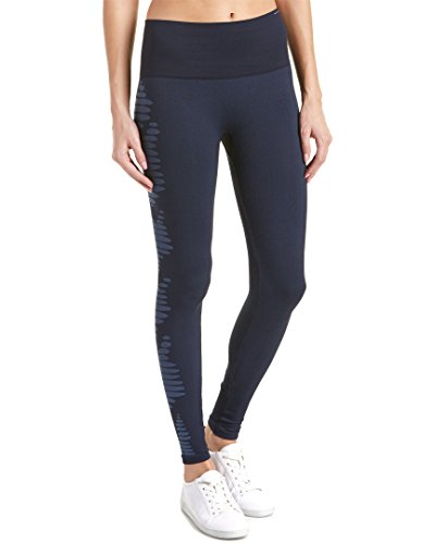 Spanx Womens Aztec Stripe Seamless Legging, L, Blue