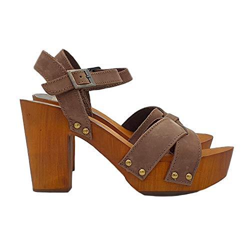 Zuecos De Piel  marca Kiara Shoes