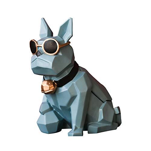 Objets De Décoration Bulldog Forme Boîte À Mouchoirs Creative Cadeau Décoration De La Maison Accessoires Salon Ornement Tissu De Soie Titulaire Papier Résine