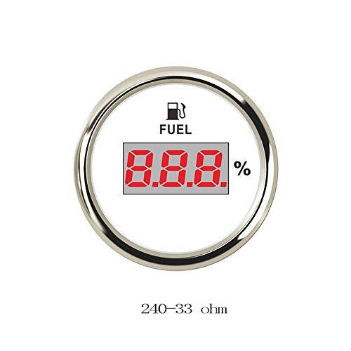 Odometer Spur Kraftstoffanzeigen Universal Digitaltankanzeige Meter for Boot RV Auto-Motorrad-0-190ohm Signal 12V / 24V ZHQHYQHHX (Color : WS 24033 ohm, Size : Kostenlos)