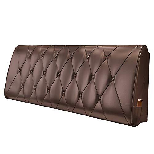 ANHPI-Cushion Cabeceros De Cama Cojines cabecera casero Respaldo de cuñas Almohadilla de la Cintura Almohada de la PU Estuche Blando de Esponja, 5 Colores Opcionales (Color : 2#, Size : 120 * 60cm)