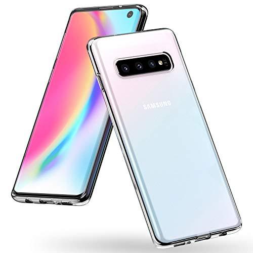Syncwire Samsung Galaxy S10 Hülle, Samsung S10 Anti-Gelb Handyhülle Stoßdämpfend Case, Einteilige Schutzhülle mit Fallschutz-Technologie für das Galaxy S10, Transparent