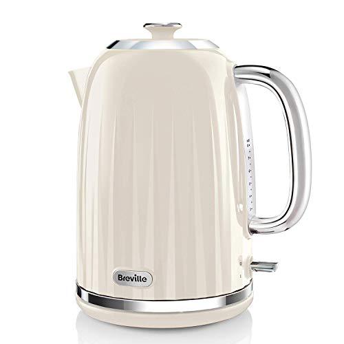 Breville Impressions Electric Kettle, 1.7 Litre, 3 KW Fast Boil, Cream...