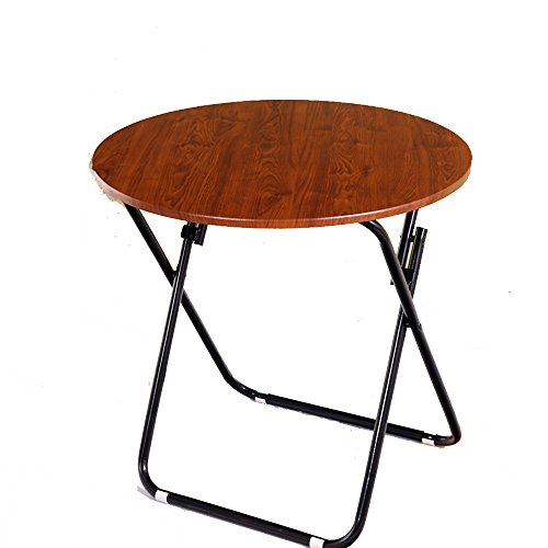 HAIZHEN Tables basses Table de salle à manger en bois multifonctionnelle ronde de bureau de bureau de table de casse-croûte et stents en métal tardifs interne (taille : 70 * 70CM)