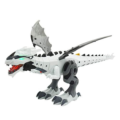 HAOMARK ロボットおもちゃ 電子ペット 電動ロボット 子供 おもちゃ 電気玩具 恐竜 モデル 発光 歩く 噴射でき 誕生日 ギフト 贈り物 電池付けない