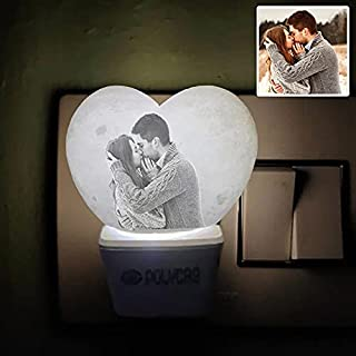 MY3DWORLD 3D Customize Couple Photo in Heart with Propose Couple Latest PLA LED Night Lamp for Bedroom ,Design Night Lamp ...