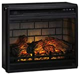 Signature Design by Ashley W100-101 Entertainment Accessories Fireplace Insert Infrared, Black, Large