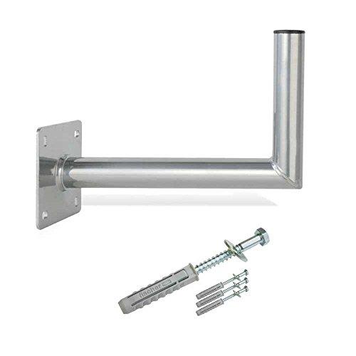 PremiumX 50cm Wandhalter ALU SAT Wand Halterung für Satellitenschüssel TÜV 500-550mm Schraubensatz für Wandmontage