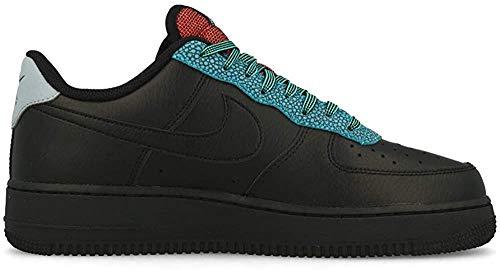 Nike Herren AIR Force 1 '07 LV8 4 Basketballschuh, Black Black Obsidian Mist Cool Grey Blue Fury BRT Crimson, 44 EU
