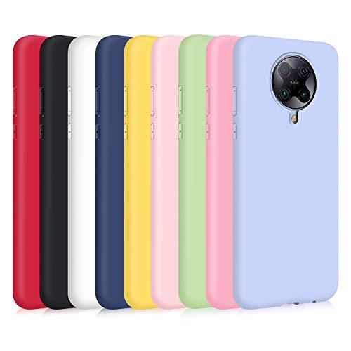 9X Funda para Xiaomi Poco F2 Pro/ K30 Pro, Ultra Delgado Color Silicona Carcasa Premium Suave Flexible TPU Gel Bumper Protectora Caso Anti-Rasguños Anti-Choque