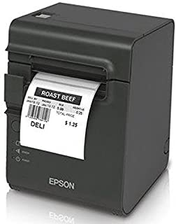Epson C31C412416 TM-L90 Plus Thermal Label Printer, USB/Serial Interface, Thermal Label, Without Peeler, with Power Supply, Dark Gray