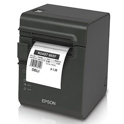 Epson C31C412416 TM-L90 Plus Thermal Label Printer, USB/Serial Interface, Thermal Label, Without Peeler, with Power Supply, Dark Gray 3d barcode scanner