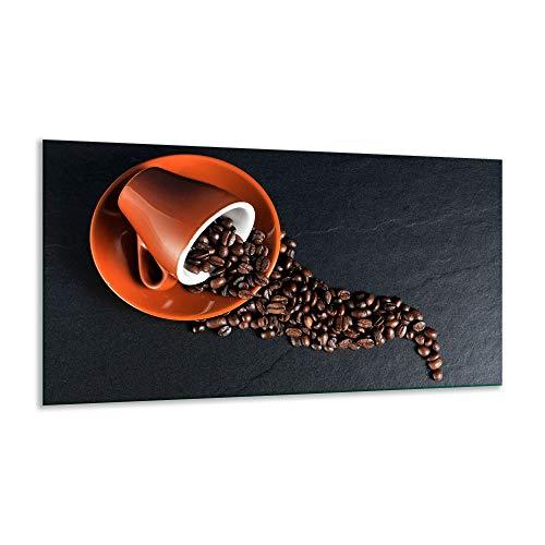 Fornuis afdekplaat Ceranfeld Koffie Kleurrijk 1 stuk 90x52 kookplaten Glas Inductie