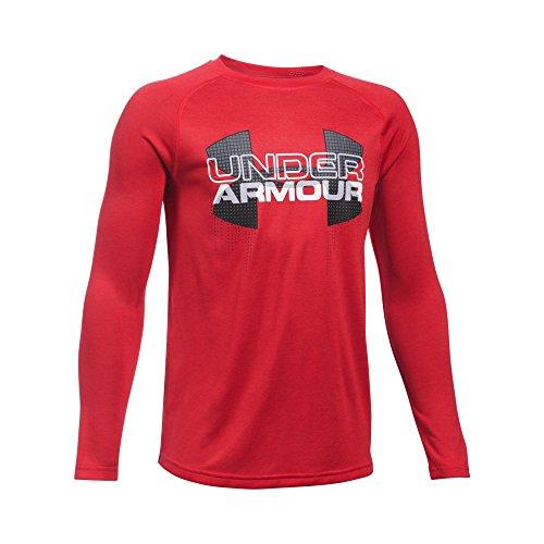Under Armour Boys ' UA Tech Bigロゴハイブリッド長袖Tシャツ Youth X-Large