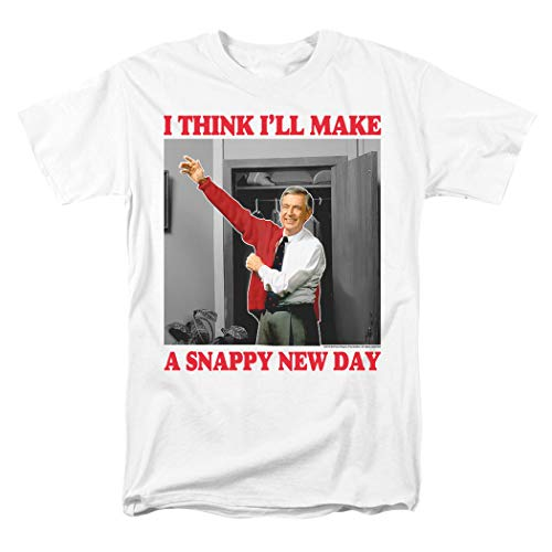 Mister Rogers Snappy Day T Shirt & Stickers (Large) White