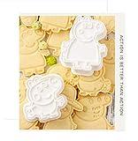 Cake Peppa Pig - Moldes con forma de galletas, juego de 6 piezas 3D para tarta de cumpleaños