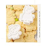 Cake Peppa Pig STAMPI Forma Biscotti Set 6 Pezzi 3D Torta Compleanno Decorazioni