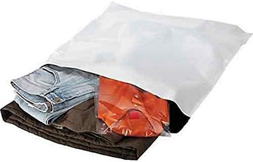 Kiko-Lot de 100 enveloppes plastiques blanches opaques 260 x 350 mm, sachets d'expédition 26x35 cm 60 microns. Pochet...