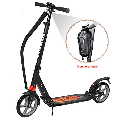 mächtig MOTORAUX City Roller Roller Höhenverstellbar Adult Folding Scooter |  City Scooter Big Wheel Scooter mit Vollfederung und Schultergurt, Kinderroller von 12 bis 100 kg