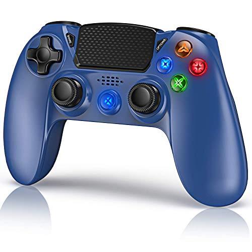 Gamory Wireless Controller für P4,Drahtlose Bluetooth Game Controller mit Vibrations 6-Achsen-und Ladekabel, geeignet für die PC-Host