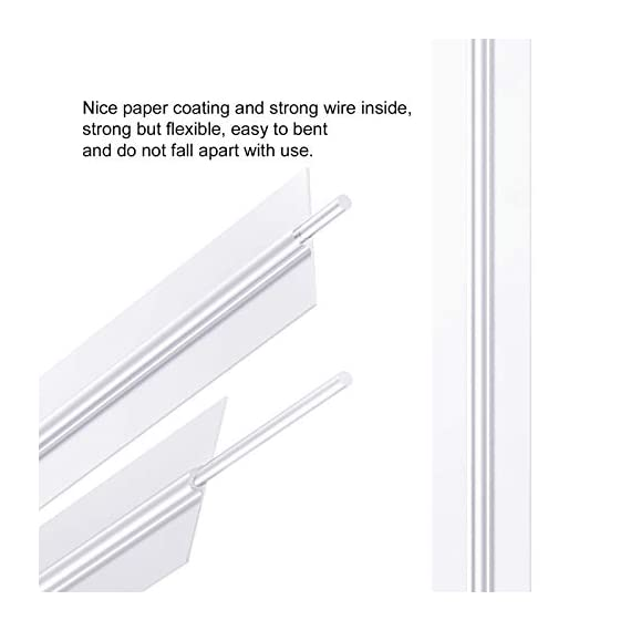 """Easytle 5"""" Paper White Twist Ties 100 Pcs 5 ★MULTIPLE USES 5"""" long, 0.16"""" wide, 1000 pieces. This is the preferred size for many uses including crafts, cords, cables, gardening plants and much more. Zip bags for bread, baked goods, storage, packing, garbage and trash. ★HIGH QUALITY these are ultra durable with an inner metal wire core. They hold up well for heavy duty use, home, business, industry and much more. These will last for years and can be reused many times. ★1000 PIECE SET to give you all the twist ties you need for every application. They store compactly and are there for you every time you need a top quality twist ties to organize and maintain cords, wires, possessions, deserts, snacks, and an endless array of uses."""