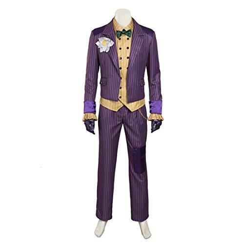 Rubyonly Costume Batman Arkham Asylum Joker Costume pour homme Costume d'Halloween Joker Costume pour adulte Fait sur mesure Taille XS