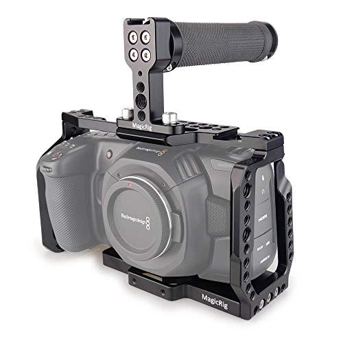 MAGICRIG BMPCC 4K /6K Cage with Top Rubber Handle for Blackmagic Pocket Cinema Camera BMPCC 4K /BMPCC 6K