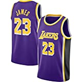 Lalagofe Lebron James, Los Angeles Lakers #23 Basket Jersey Maglia Canotta, Viola, Un Nuovo Tessuto...