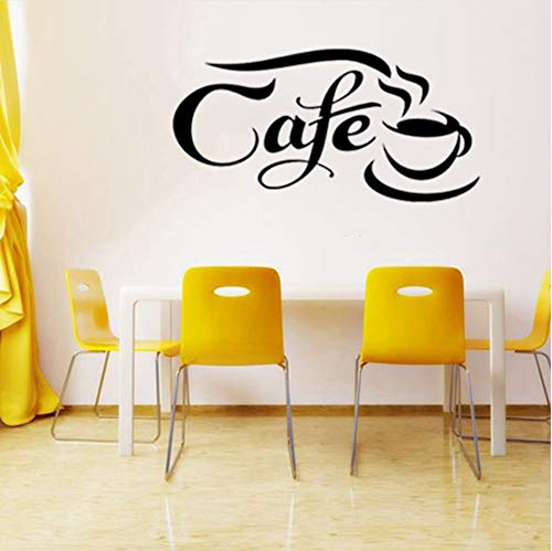 Wuyii 55x28 cm Koffieraam deur Vinyl grafisch muurkunst sticker bar restaurant café thee vinyl auto verpakking persoonlijkheid A