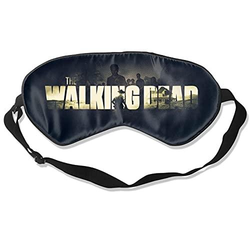 Gran regalo – El logo de Walki-Ng Dead Black Máscara de dormir mejor máscara de ojos para viajes siesta meditación vendada con correa ajustable para hombres y mujeres