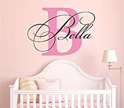 Nursery Custom Name and Initial Wall Decal Sticker 40
