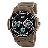XJIANQI Herren Sport-Digital-Armbanduhr, 50 m wasserdicht mit 12/24 Stunden Format, Wochenanzeige, Alarm, Kalender, Countdown, LED Analog usw. für Herren Outdoor Sport