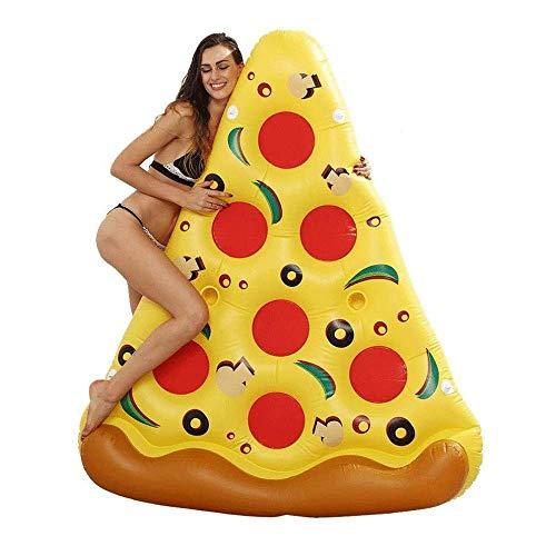 LIJING Pizza Luftmatratze - Pizza Stück Als Badeinsel Für Den Pool - Riesen Schwimmreifen Aufblasbar Schwimm Spielzeug,180 * 150cm