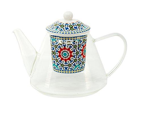 Teiera in vetro con filtro in porcellana Motiv, Marocco '1,2litri di Duo