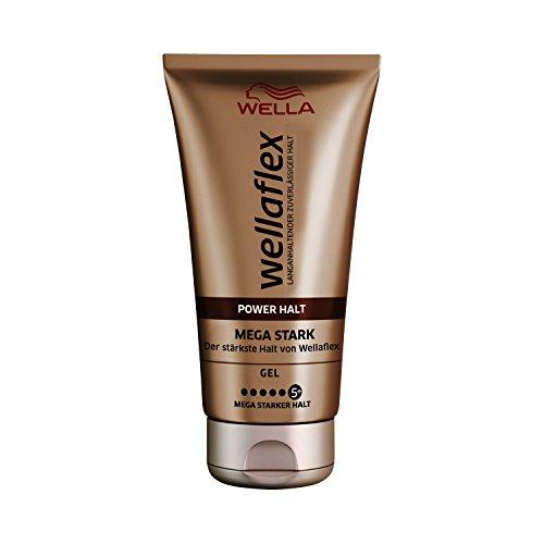 Wella Wellaflex Power Halt Mega Stark Gel, 6er Pack (6 x 150 ml)