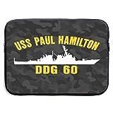USS Paul Hamilton DDG 60 Laptop Bag Laptop Sleeve 15-Inch Notebook Laptop Sleeve