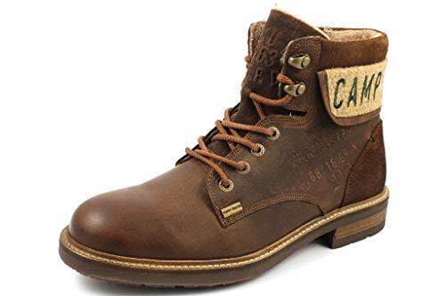 Camp David Herren Premium Leder-Stiefel mit Logo-Applikation