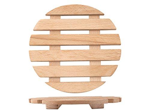 Home Topfuntersetzer, Holz Rund, 15.5 cm