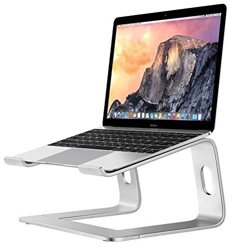 "Laptop Stand Holder Computer Riser, Aluminum Cooling Notebook Stand Mount Laptops Elevator for Desk for MacBook Pro Air, Lenovo, HP, Dell, 10-15.6"" Laptops - Silver"