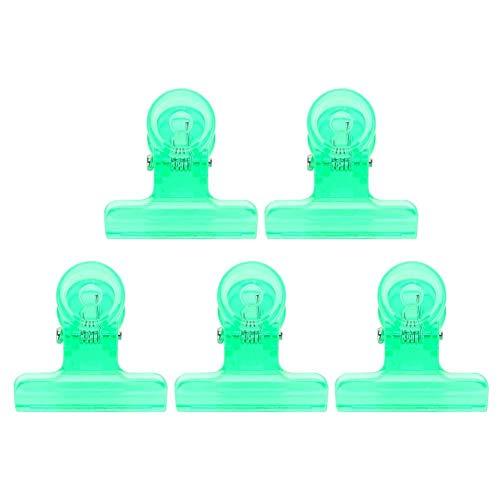 5PCS Nail Art Clippers JJ. Accessoire 5 pcs 4 Couleurs C Courbe Nail Extension Clips Multi-fonctionnel En Plastique Nail Art Accessoires(vert)