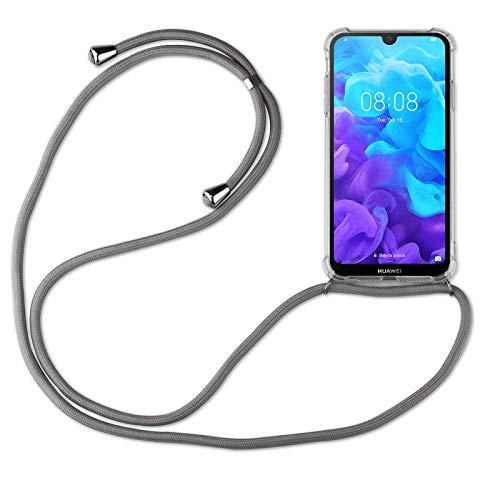 betterfon | Huawei Y5 2019 Handykette Smartphone Halskette Hülle mit Band - Schnur mit Hülle zum umhängen Handyhülle mit Kordel zum Umhängen für Huawei Y5 2019 Grau